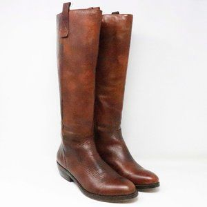 Arturo Chiang Burnished Cognac Brown Leather Ridin